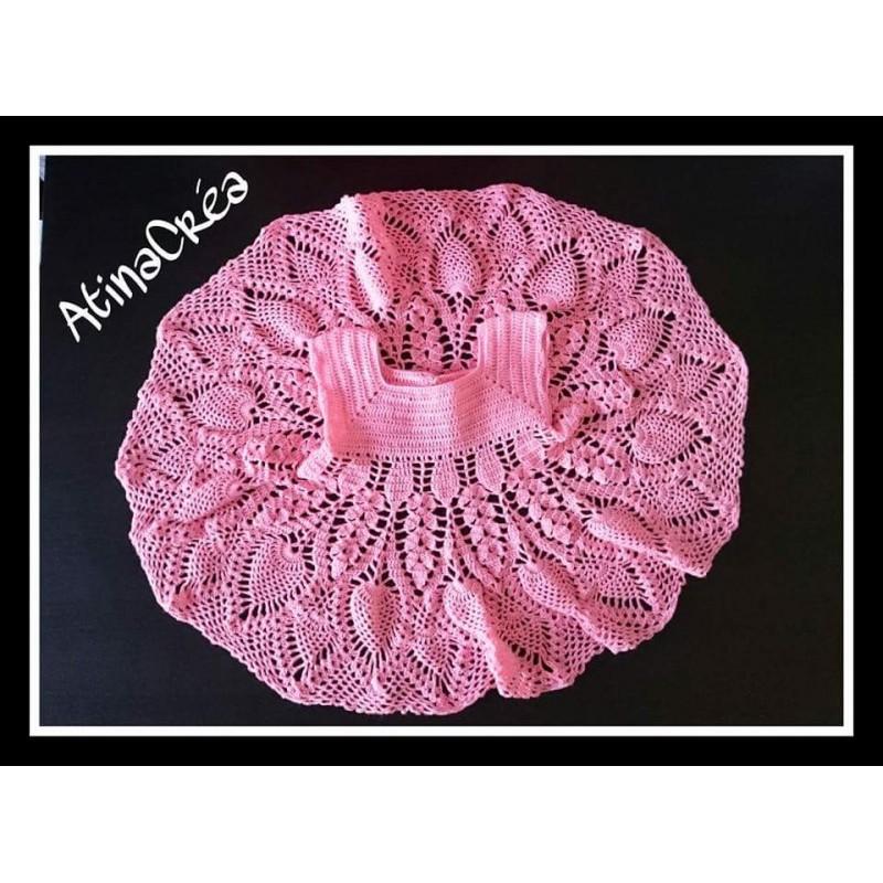 Robe Dentelle Bebe Crochet